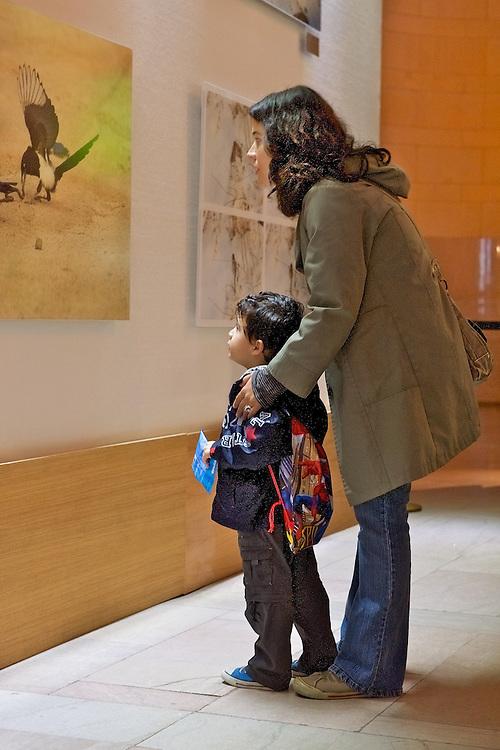 A photography exhibit at Vanderbilt Hall, Grand Central Terminal