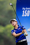 Sui Xiang of China tees off during the first round of the EFG Hong Kong Ladies Open at the Hong Kong Golf Club Old Course on May 11, 2018 in Hong Kong. Photo by Marcio Rodrigo Machado / Power Sport Images