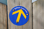 Waymark arrow pointer Suffolk Coastal Path