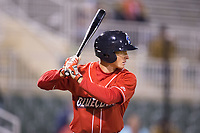 Lucas Williams (12) of the Lakewood BlueClaws at bat against the Kannapolis Intimidators at Kannapolis Intimidators Stadium on April 6, 2017 in Kannapolis, North Carolina.  The BlueClaws defeated the Intimidators 7-5.  (Brian Westerholt/Four Seam Images)