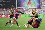 South Africa vs Japan during the Women's Cup Final as part of the HSBC Hong Kong Rugby Sevens 2017 on 07 April 2017 in Hong Kong Stadium, Hong Kong, China. Photo by Marcio Rodrigo Machado / Power Sport Images