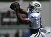 Quincy Enunwa #81 of the New York Jets makes a catch during team practice at the Atlantic Health Jets Training Center in Florham Park, NJ on Sunday, July 29, 2018.