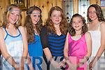 BIRTHDAY GIRL: Lauren McNamara, Ballymac having a wonderful time celebrating her birthday at La Scala's restaurant on Saturday l-r: Jennifer Moriarty, Maeve Cantillon, Lauren McNamara, Clodagh Griffin and Rhian O'Sullivan.