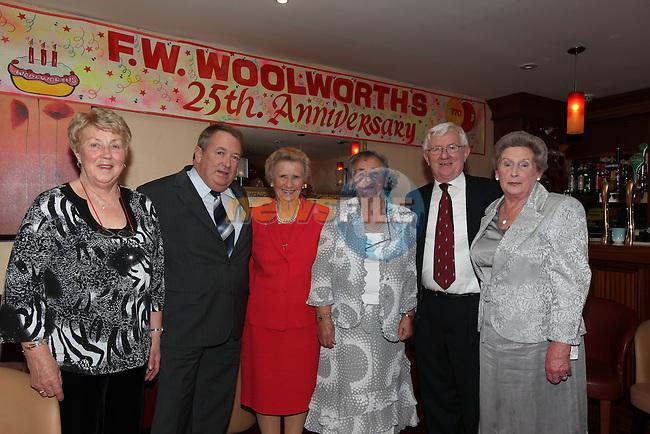 Woolworths renunion in the roof Garden..Brodie O'Neill, Michael Deasy, Rhoda McDonnell, Elizabeth McEvoy, John Champion and Zeta Leonard..Photo: Fran Caffrey/www.newsfile.ie..