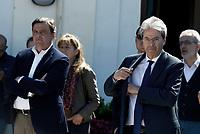 Roma, 30 Marzo 2019<br /> Carlo Calenda e Paolo Gentiloni.<br /> Il Partito Democratico presenta il simbolo per le elezioni europee del 26 Maggio