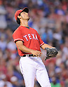Yu Darvish (Rangers),<br /> JULY 9, 2014 - MLB :<br /> Pitcher Yu Darvish of the Texas Rangers looks dejected after giving up a home run in the fifth inning during the Major League Baseball game against the Houston Astros at Globe Life Park in Arlington in Arlington, Texas, United States. (Photo by AFLO)
