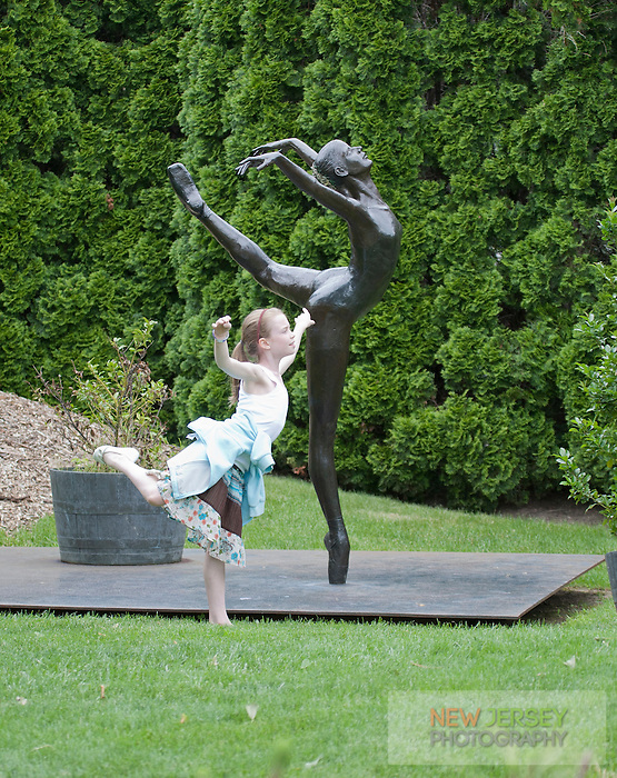 Bronze Scupture and child, Grounds for Sculpture, Hamilton, New Jersey