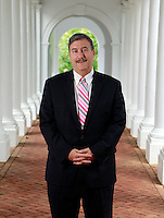 Politics professor Larry Sabato photographed at the University of Virginia in Charlottesville, Va. Photo/Andrew Shurtleff