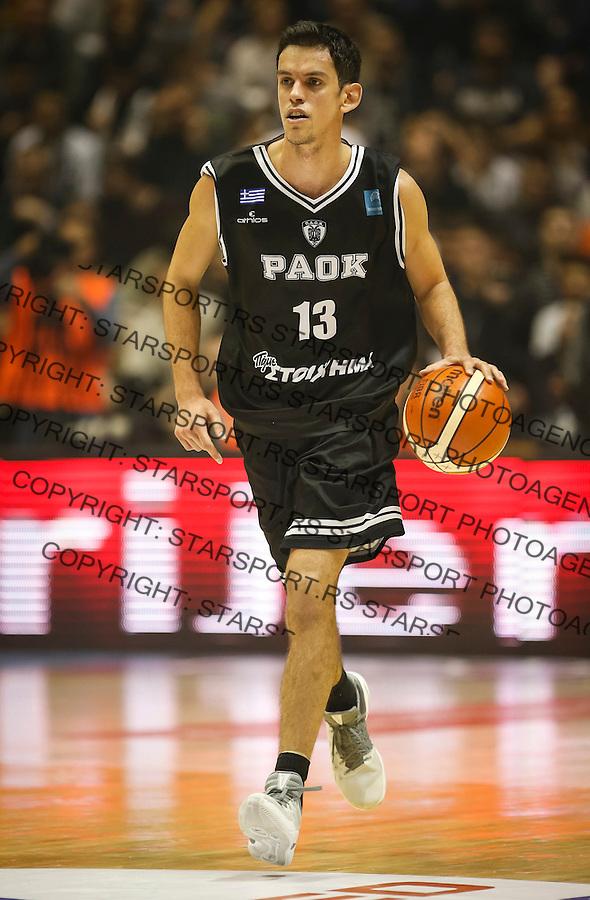 Kosarka FIBA Champions League season 2016-2017<br /> Partizan v PAOK<br /> Nenad Miljenovic<br /> Beograd, 08.01.2016.<br /> foto: Srdjan Stevanovic/Starsportphoto &copy;