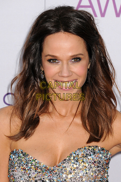 Mary Kitchen.People's Choice Awards 2013 - Arrivals held at Nokia Theatre L.A. Live, Los Angeles, California, USA..January 9th, 2013.headshot portrait silver sequins sequined strapless   .CAP/ADM/BP.©Byron Purvis/AdMedia/Capital Pictures.