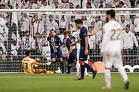 26th November 2019; Estadio Santiago Bernabeu, Madrid, Spain; UEFA Champions League Football, Real Madrid versus Paris Saint Germain; Kylian Mbappe (PSG)  celebrates his goal which made it 2-1  - Editorial Use
