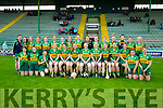 The Kerry team who played Roscommon in the All Ireland Camogie Premier Junior Championship at Austin Stack Park on Sunday.