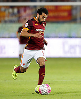 Calcio, Serie A: Frosinone vs Roma. Frosinone, stadio Comunale, 12 settembre 2015.<br /> Roma&rsquo;s Mohamed Salah in action during the Italian Serie A football match between Frosinone and Roma at Frosinone Comunale stadium, 12 September 2015.<br /> UPDATE IMAGES PRESS/Riccardo De Luca