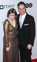NEW YORK CITY, NY, USA - APRIL 07: Lena Dunham, Jorge Valencia at the Point Honors New York Gala 2014 held at the New York Public Library on April 7, 2014 in New York City, New York, United States. (Photo by Jeffery Duran/Celebrity Monitor)