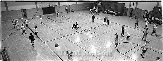 the Hoop Fest 3-on-3 Basketball Tournament at the Deseret Gym.<br />
