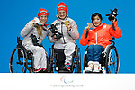Momoka Muraoka (JPN), MARCH 14, 2018 - Cross-Country Skiing : <br /> Women's Super Combined Sitting Medal Ceremony<br /> at PyeongChang Medals Plaza<br /> during the PyeongChang 2018 Paralympics Winter Games in Pyeongchang, South Korea. <br /> (Photo by Yusuke Nakanishi/AFLO SPORT)
