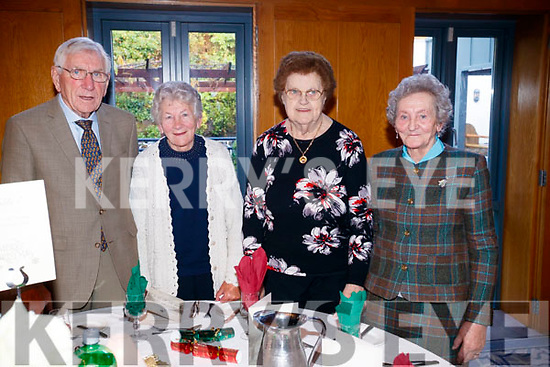 Enjoying the Causeway Senior Citizens  Christmas party at Ballyroe Heights Hotel, Tralee on Sunday last were front l-r: Evelyn Hobbert, Eileen Leahy, Mary Casey and Maureen Pigott. Back l-r: Florence O'Halloran, Pat Ferguson, James Ferguson and Kathleen Hussey.