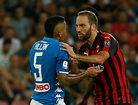 Gonzalo Higuain  during the  italian serie a soccer match,  SSC Napoli - Milan      at  the San  Paolo   stadium in Naples  Italy , August 25, 2018