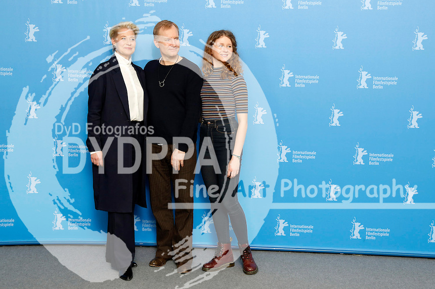 Trine Dyrholm, Ulrich Thomsen and Martha Sofie Wallstrom Hansen during the 'Kollektivet / The Commune / Die Kommune' photocall at the 66th Berlin International Film Festival / Berlinale 2016 on February 17, 2016 in Berlin, Germany.