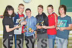 Pictured at the St Brendan's Oakpark Community Games medal Presentations at NaGaeil club on Thursday night were l-r: Lucy McGrath, Brian Hill, David Murphy, James O'Connor,  Killian O'Riordan, Sean Fitzmaurice.