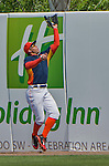 20 March 2015: Houston Astros outfielder George Springer pulls in a deep fly during Spring Training action against the Washington Nationals at Osceola County Stadium in Kissimmee, Florida. The Astros fell to the Nationals 7-5 in Grapefruit League play. Mandatory Credit: Ed Wolfstein Photo *** RAW (NEF) Image File Available ***