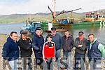 L-R Fisherman: Daniel O'Sullivan, James Teahan, Jamie Kennedy, Denis Teahan, James O'Sullivan, Liam Teahan, Patrick Teahan and Patrick O'Sullivan (commette member of Castlemaine Harbour Co Op) at Cromane Pier last Saturday.