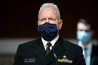 Admiral Brett Giroir, United States Assistant Secretary for Health, wears a protective covering during a US Senate Health, Education, Labor and Pensions Committee hearing in Washington, D.C., U.S., on Tuesday, June 30, 2020. Top federal health officials are expected to discuss efforts to get back to work and school during the coronavirus pandemic. <br /> Credit: Al Drago / Pool via CNP /MediaPunch