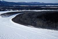 Aerial of David Straub on Kuskokwim River Near McGrath