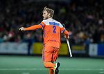 AMSTELVEEN - Jeroen Hertzberger (Ned) heeft gescoord  tijdens de hockeyinterland Nederland-Ierland (7-1) , naar aanloop van het WK hockey in India.  COPYRIGHT KOEN SUYK