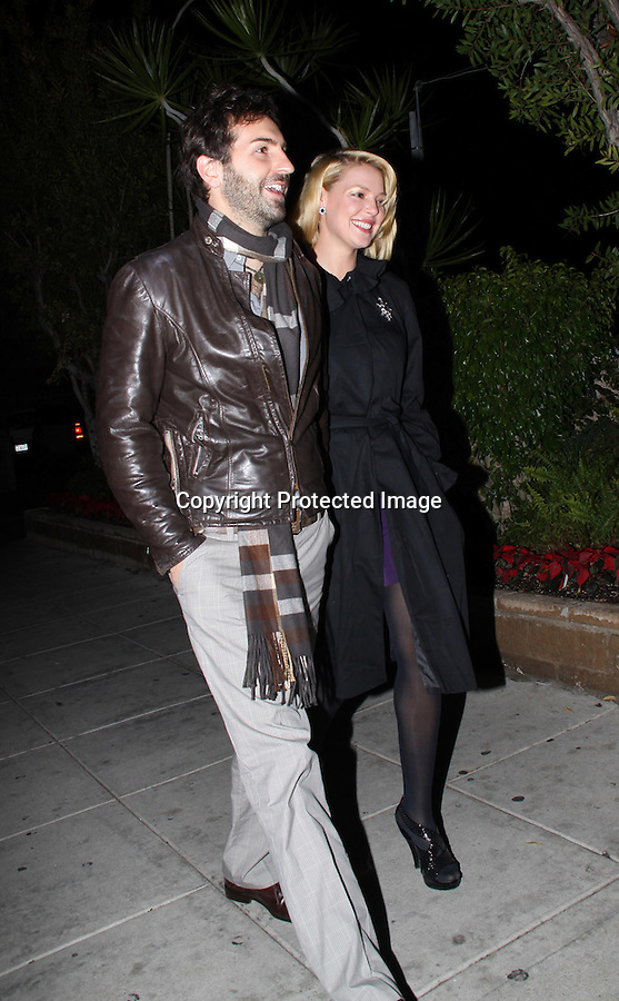 12-23-08.Katherine Heigl and husband Josh Kelley celebrating their one year  Wedding Anniversary for Dinner at Matsuhisa Restaurant in Beverly Hills.  Josh had a little present hidden in the car before they both left together from there home. ...AbilityFilms@yahoo.com.805-427-3519.www.AbilityFilms.com