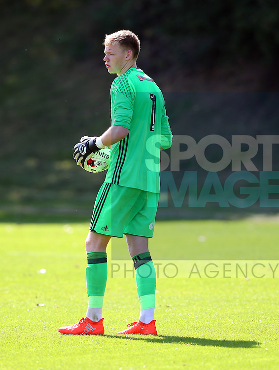 Aaron Ramsdale of Sheffield Utd during the Professional Development League Two match at Shirebrook Training Complex, Sheffield. Picture date: September 13th, 2016. Pic Simon Bellis/Sportimage