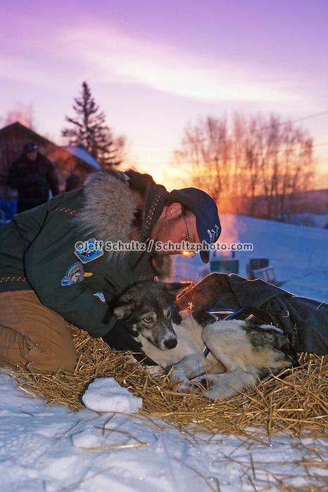 "Vet Checks Tunheim's Dogs  Takotna 2000 Iditarod AK.John O'Conner dog """"Pasvik"""""""