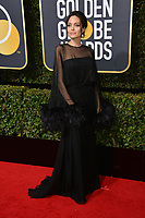 Angelina Jolie at the 75th Annual Golden Globe Awards at the Beverly Hilton Hotel, Beverly Hills, USA 07 Jan. 2018<br /> Picture: Paul Smith/Featureflash/SilverHub 0208 004 5359 sales@silverhubmedia.com