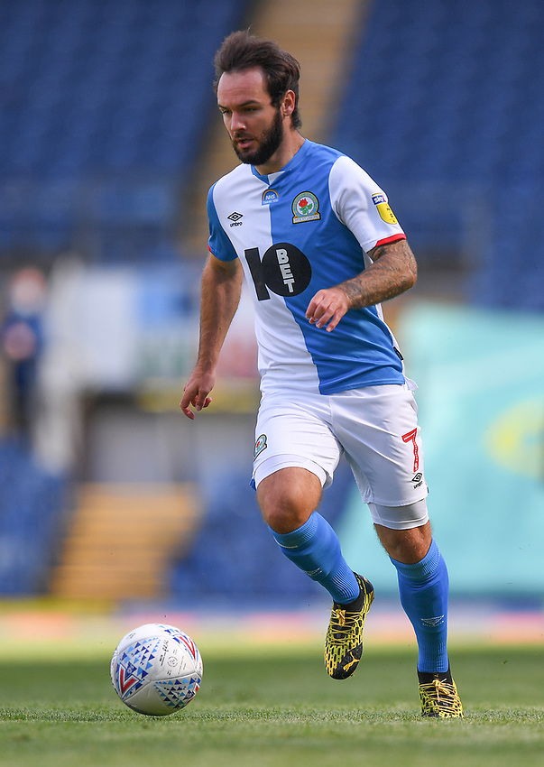 Blackburn Rovers' Adam Armstrong<br /> <br /> Photographer Dave Howarth/CameraSport<br /> <br /> The EFL Sky Bet Championship - Blackburn Rovers v Bristol City - Saturday 20th June 2020 - Ewood Park - Blackburn<br /> <br /> World Copyright © 2020 CameraSport. All rights reserved. 43 Linden Ave. Countesthorpe. Leicester. England. LE8 5PG - Tel: +44 (0) 116 277 4147 - admin@camerasport.com - www.camerasport.com
