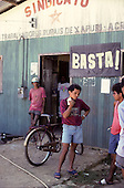 Xapuri, Brazil. People outside the Rubber Tappers' Union building. Acre State.