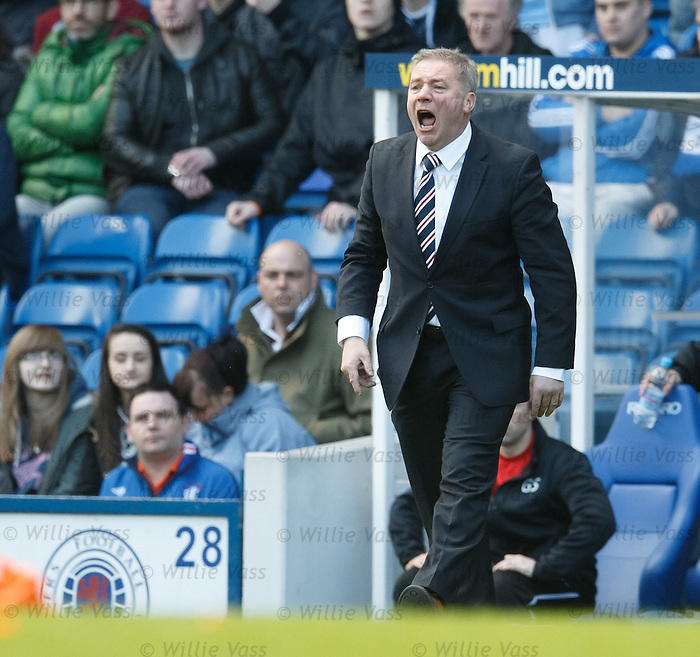 Ally McCoist questioning the referee