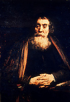 Rembrandt:  Portrait of the old man.  Galleria Uffizi.  Reference only.