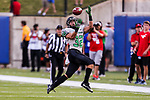 North Texas Mean Green wide receiver Michael Lawrence (32) in action during the game between the North Texas Mean Green and the SMU Mustangs at the Gerald J. Ford Stadium in Fort Worth, Texas.