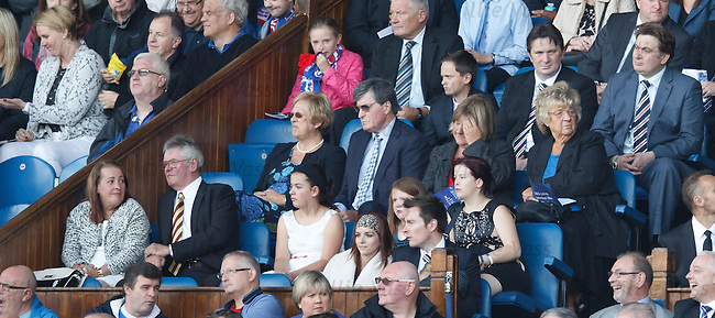 The family of Lee Rigby in the directors box