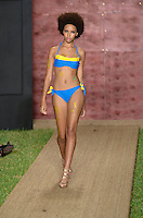 Staci Lyon walks runway at Wet Couture Swimwear Show during Funkshion Fashion Week Miami Beach Swim 2013 at Miami Beach, FL on July 18, 2012