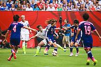 VANCOUVER, CANADÁ, 05.07.2015 - EUA-JAPÃO - Mizuho Sakaguchi do Japão durante partida contra os Estados Unidos jogo válido pela final da Copa do Mundo de Futebol Feminino no Estádio BC Place em Vancouver  no Canadá neste domingo, 05. (Foto: William Volcov/Brazil Photo Press)