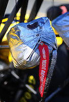 Jul. 17, 2010; Sonoma, CA, USA; Detailed view of the parachutes on an NHRA top fuel dragster during qualifying for the Fram Autolite Nationals at Infineon Raceway. Mandatory Credit: Mark J. Rebilas-