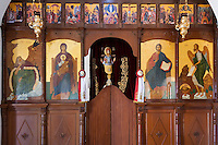 CYPRUS, Protaras: icons inside of chapel of prophet Ilias Thesvitis<br />