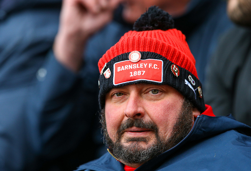 Barnsley fans watch on during the second half<br /> <br /> Photographer Alex Dodd/CameraSport<br /> <br /> The EFL Sky Bet League One - Barnsley v Blackpool - Saturday 27th April 2019 - Oakwell - Barnsley<br /> <br /> World Copyright © 2019 CameraSport. All rights reserved. 43 Linden Ave. Countesthorpe. Leicester. England. LE8 5PG - Tel: +44 (0) 116 277 4147 - admin@camerasport.com - www.camerasport.com