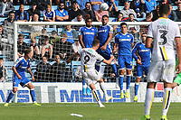 Nathan Broadhead of Burton Albion curls the ball just wide of the Gillingham goal during Gillingham vs Burton Albion, Sky Bet EFL League 1 Football at The Medway Priestfield Stadium on 10th August 2019