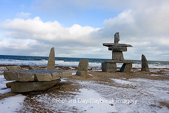 60595-010.01 Inukshuk near Hudson Bay Churchill MB Canada