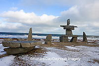60595-010.01 Inukshuk near Hudson Bay Churchill MB Canada