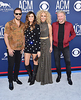 LAS VEGAS, CA - APRIL 07: (L-R) Jimi Westbrook, Karen Fairchild, Kimberly Schlapman and Phillip Sweet of Little Big Town attend the 54th Academy Of Country Music Awards at MGM Grand Hotel &amp; Casino on April 07, 2019 in Las Vegas, Nevada.<br /> CAP/ROT/TM<br /> &copy;TM/ROT/Capital Pictures