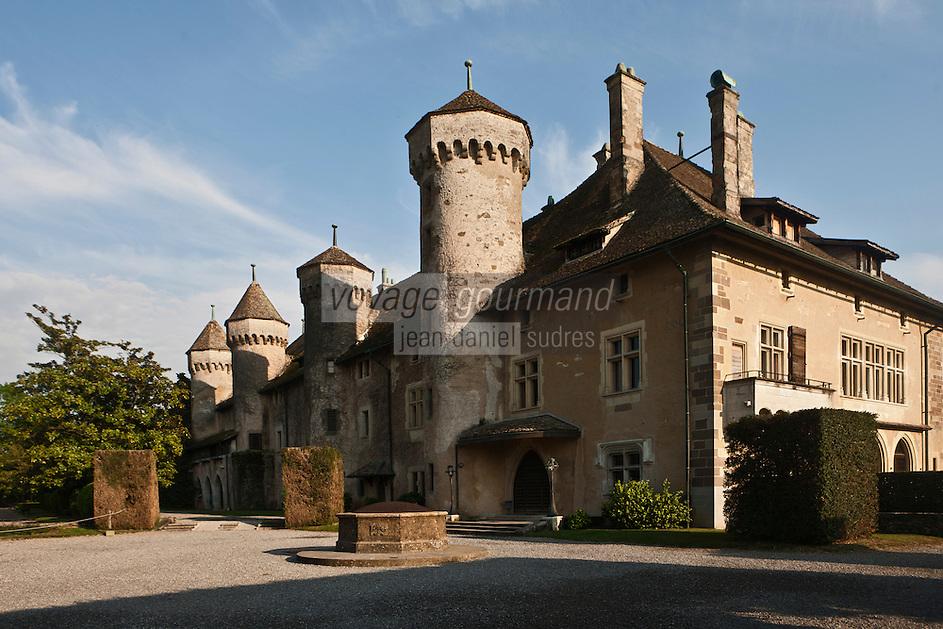 Europe/France/Rhône-Alpes/74/Haute Savoie/  Thonon-les-Bains: Le Château de Ripaille  domaine viticole qui produit l'AOC Ripaille