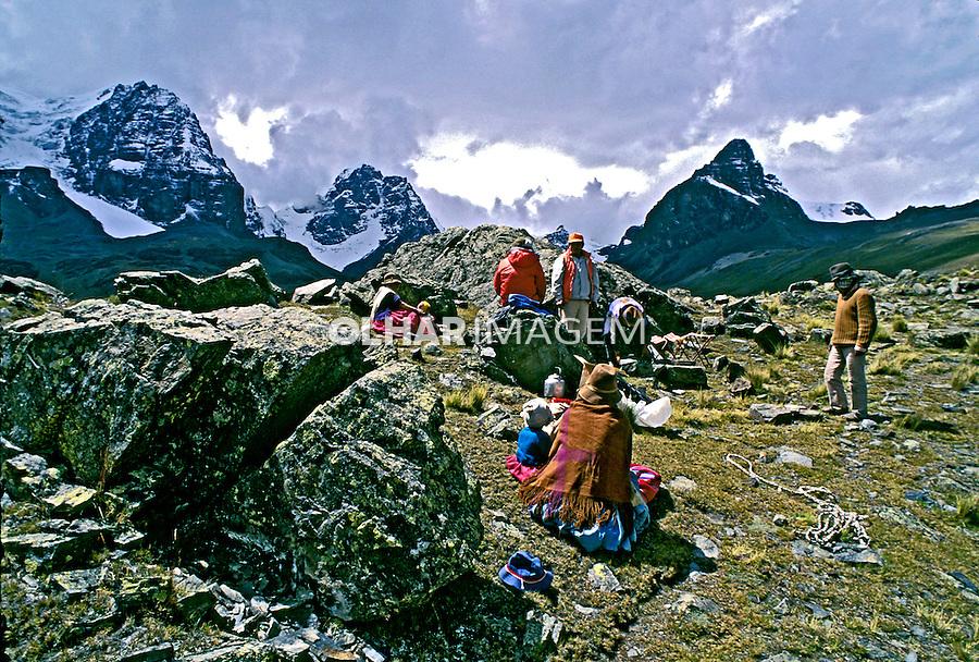 População da Cordilheira dos Andes. Bolivia. 1998. Foto de Juca Martins.